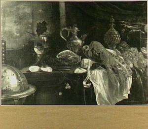 Pronkstilleven met ananasbeker en kreeft (spiegelbeeld)