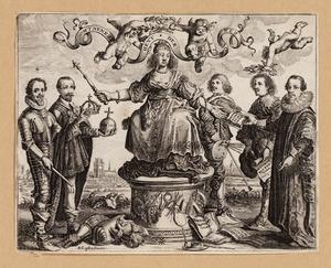 Allegorische voorstelling met Maurits van Oranje-Nassau