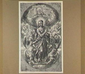 Maria Immaculata, omgeven door engelen