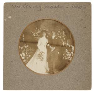 Portret van Willem Frederik Gobius (1881-...) en Johanna Adriana van Rossum (1886-...)