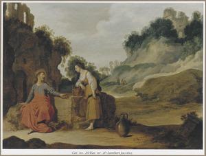 Jezus en de vrouw van Samaria bij de bron