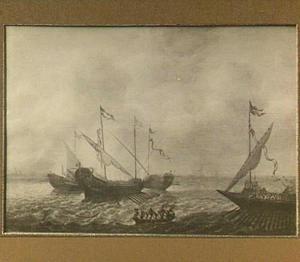 Galeiën op zee