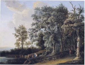 Boslandschap met badende nimfen (Diana en Actaeon?)