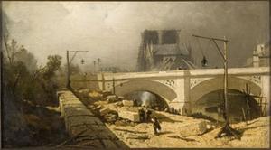 Brug over de Seine te Parijs