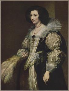 Portret van  Maria Louis de Tassis (1611-1638), dochter van kanunnik Antoine de Tassis