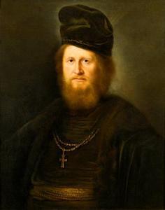 Portretn van een bebaarde geestelijke