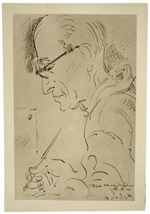 Portret van Piet Mondriaan door Gerard Hordijk