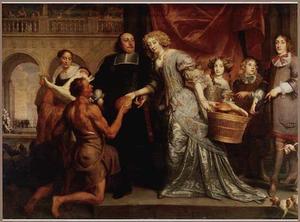 Familieportret met de werken van barmhartigheid