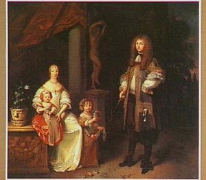 Familieportret met twee kinderen