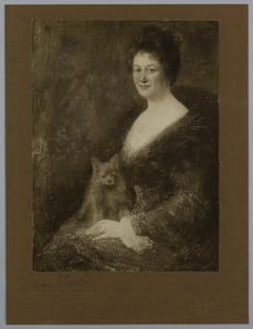 Portret van een vrouw met hond