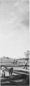 De hennepteelt; Het bewerken van het land en het zaaien van hennep