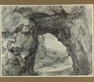 Doorkijk door een rotsboog
