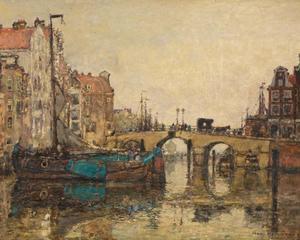 Gezicht op een Amsterdamse gracht