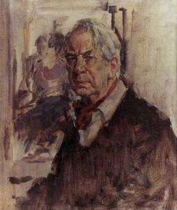 Zelfportret van Sierk Schröder (1903-2002)