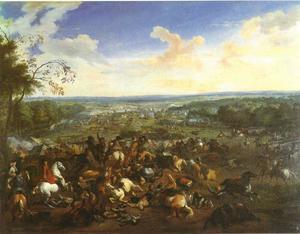De slag bij Malplaquet, 11 september 1709: een Pyrrhus-overwinning van de Habsburgese, Engelse, Hollandse en Pruisische troepen onder de hertog van Marlborough, Eugenius van Savoie en Johan Willem Friso van Oranje op de Fransen onder Maréchal de Boufflers