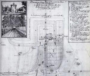 Plattegrond van Walta-of Tetinga-sate bij Wieuwerd