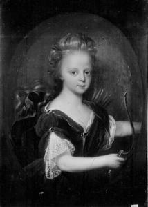 Portret van een dochter van Hendrik Casimir II van Nassau-Dietz, mogelijk Henriette Albertine (1686-1754), als Diana