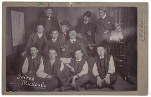 Groepsportret met Cornelis Adrianus Lettinck (1882-1962)