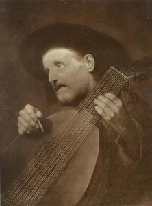 Oude zingende luitspeler