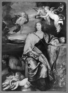 Allegorisch portret van Venetia, Lady Digby (1600-1633) als Prudentia