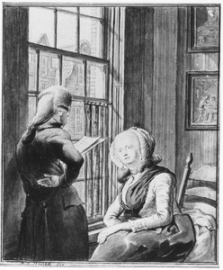 Dubbelportret van Cornelis Bakker (1771-1849) en Eva Susanna Hauck (1773-1842)