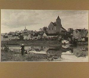 Gezicht op Montigny-sur-Loing