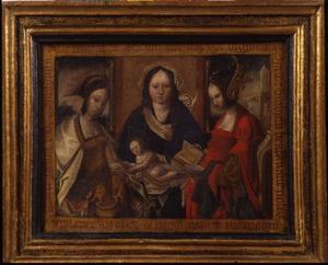 Maria met Kind, de HH. Catharina en Barbara