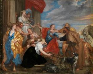 Achilles herkend temidden van de dochters van Lykomedes