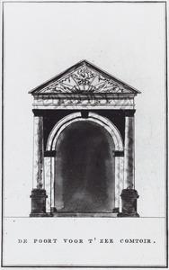 Poort ter decoratie van het Zee-comptoir in Amsterdam 1795