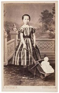 Portret van een meisje, waarschijnlijk Maria Margaretha van Oordt (1858-1917)