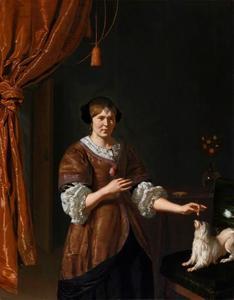 Portret van een vrouw, waarschijnlijk Maria le Maistre