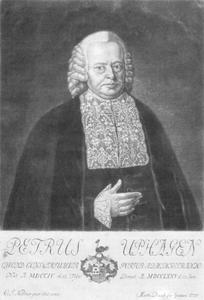 Portret van Petrus (Peter) Uphagen (1704-1775)
