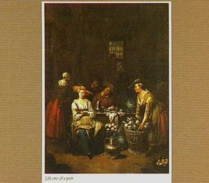 Groentevrouwen in een interieur