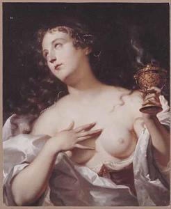 Een Vestaalse maagd met een brandend wierookvat