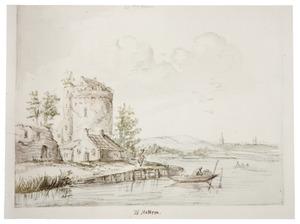 Hattem, de vervallen stadsmuur en een toren