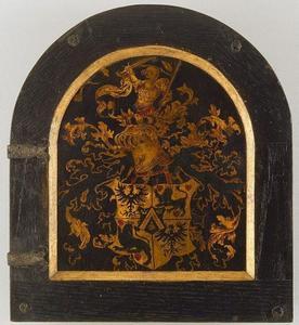 Heraldisch wapen van Cornelius de Schepper (voorzijde: Portret van Cornelius de Schepper)