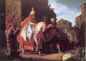 De triomftocht van Mordekai (Ester 6:11)