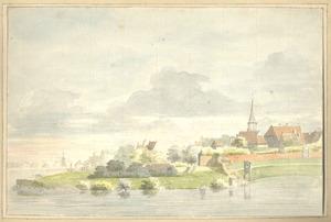 Gezicht op Harderwijk met het St. Juriën- of St. Jorisklooster
