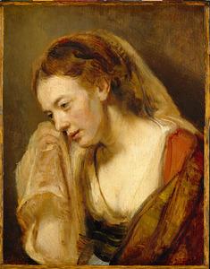 Een huilende vrouw