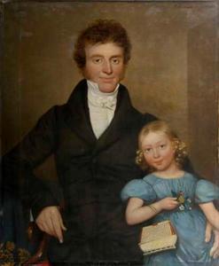 Portret van Age Solkes Tromp (1787-1845) en Rymke Ages Tromp (1831-873)