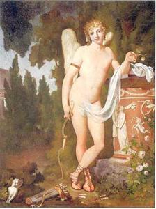 Eros bij een altaar