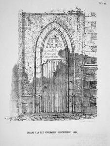 Ingang van het voormalig Bisschopshof te Utrecht, omstreeks 1830