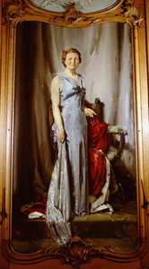Portret van koningin Juliana Louise Emma Marie Wilhelmina van Oranje- Nassau (1909-2004)