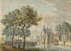 De Coolvest te Rotterdam met de oude Delftsche Poort