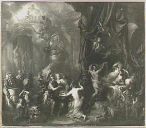 Het overspel van Mars en Venus door Vulcanus aan de overige goden onthuld