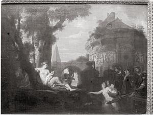 Aankomst van Aeneas in Italië