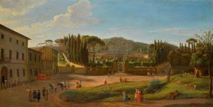 Landschap met de villa Aldobrandini at Frascati