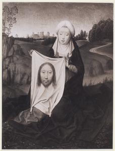 De H. Veronica met de zweetdoek (op de achterzijde: De kelk van H. Johannes)