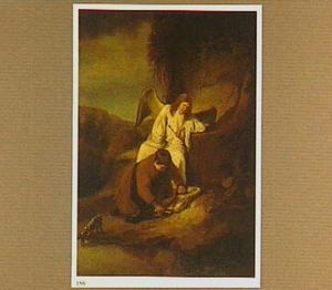 Tobias snijdt de vis open op aanwijzing van de engel Rafael
