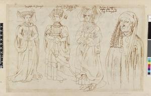 Studie van Maria van Savoye, Margaretha van Savoye, Anna of Bedford en Jan van Bourgondië
